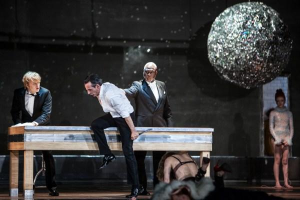 © Bernd Uhlig Andreas Wolf (Leporello), Jean-Sébastien Bou (Don Giovanni), Sir Willard White (Il Commendatore), Barbara Hannigan (Donna Anna)