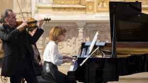 Anne Queffélec et Olivier Charlier en concert à Noyers sur Serein © Philippe Stroppa