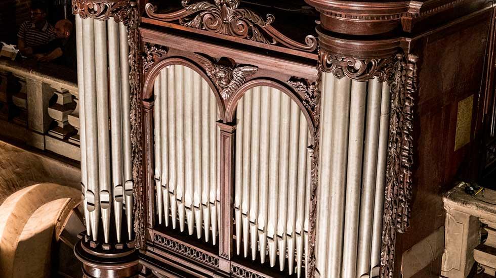 Le positif de dos de l'orgue de la Basilique Saint-Sernin à Toulouse © Alexandre Ollier