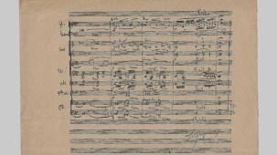 Manuscrit de l'orchestration de Philydé de Henri Duparc