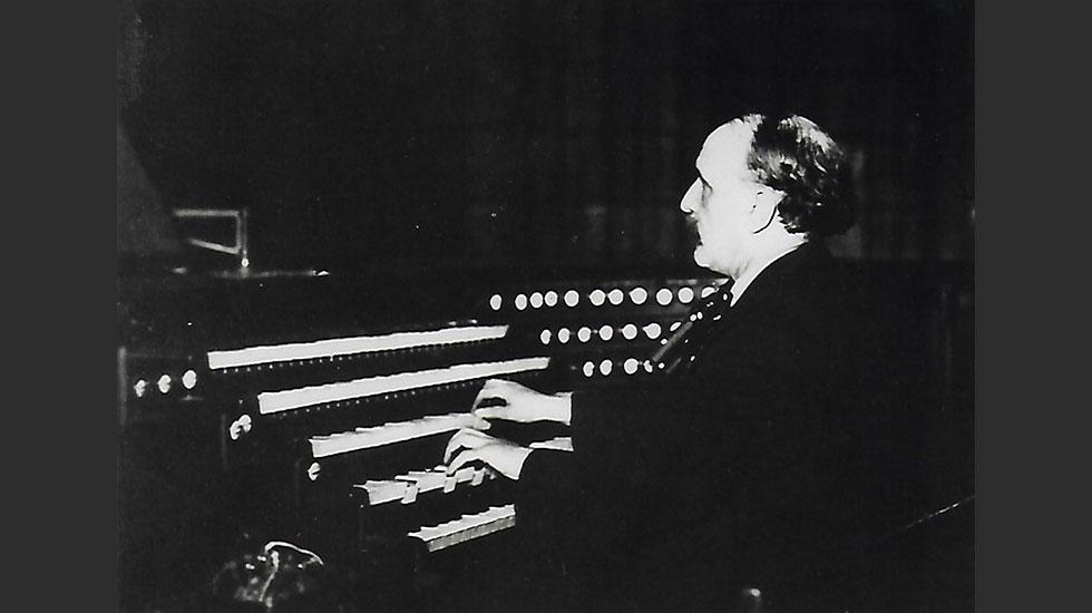 Vierne à l'orgue de Notre Dame en 1924