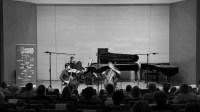 Aylen Pritchin, violon – Michel Strauss, violoncelle – Jean-Claude Vanden Eynden, piano au festival Musique de chambre à Giverny© Julien Bordas