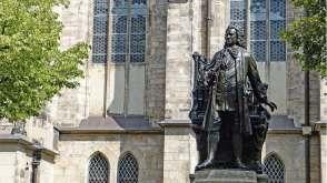 Statue Bach à Leipzig